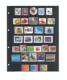 1 x LINDNER 4107 Einsteckhüllen Ergänzungsblätter Publica L A4 7 Taschen / Streifen schwarz 40 x 220 mm Für Briefmarken