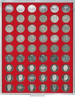 LINDNER 2109 Münzbox Münzboxen Standard Grau für 54 Münzen 26, 75 mm Ø 2 DM