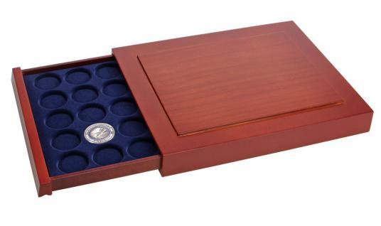 SAFE 6842 Nova Exquisite Holz Münzboxen Schublade 30 x 34 mm Für Deutsche 5 Euro Blauer Planet Klimazonen 2016 - 2017 - 2018 - 2019 - 2020 - 2021 in Münzkapseln 27, 5 mm