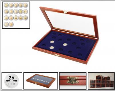 SAFE 5857 Echtholz Holz Münzvitrinen 2 EURO Römische Verträge Für 17 x 2 Euro Münzen 2007 in Münzkapseln 26