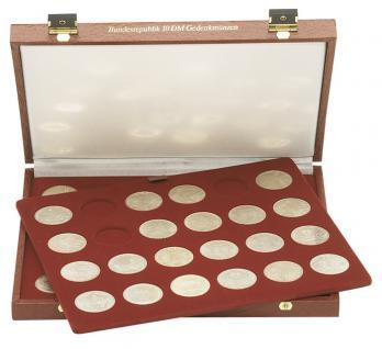 LINDNER 2009 Luxus Kassetten mit 2 Tableaus für 48 x 10 DM Gedenkmünzen Deutschland