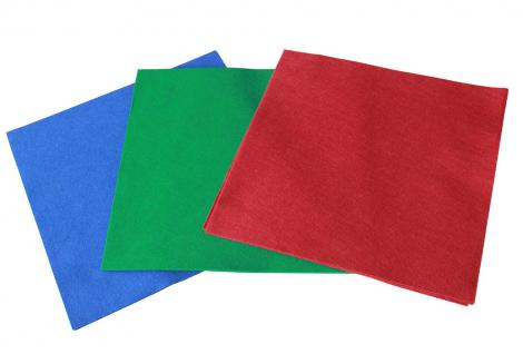 3 x SAFE 6111 6121 6131 Echtfilz-Zuschnitte Filzeinlagen Objektunterlagen Rot Blau Grün 28x28 cm Für Vitrinen Sockel Rahmen O)bjekte Sammelboxen