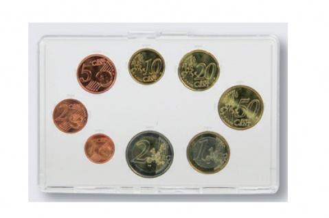 SAFE 7913 Glasklare Acryl Münzetuis Vista Libra Clear KMS Kursmünzensatz 1, 2, 5, 10, 20, 50 C 1, 2 Euro mit 360 Grad Sicht