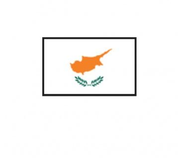 1 x SAFE 1175 SIGNETTE Flagge Zypern - Cyprus Aufkleber Kennzeichnungshilfe - selbstklebend