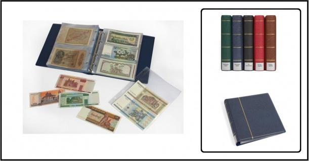 KOBRA G173 Blau Banknotenalbum Ringbinder + 20 Ergänzungsblättern je 10x G172E 2er Teilung & 10x G173E 3er Teilung Mixed Für Banknoten Geldscheine Papiergeld Notgeldscheine