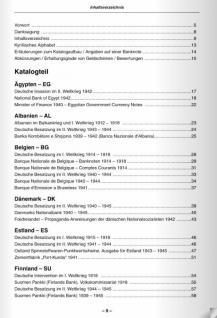 Gietl - Battenberg Ausländische Geldscheine unter deutscher Besatzung im Ersten und Zweiten Weltkrieg Papiergeldkatalog in Farbe - PORTOFREI in Deutschland