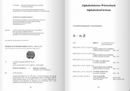 Gietl M & S Edition Byzantinische Monogramme und Eigennamen Lexikon Alphabetisiertes Wörterbuch / Alphabetized lexicon - Robert Feind - 1. Auflage 2010 PORTOFREI in Deutschland - Vorschau 4