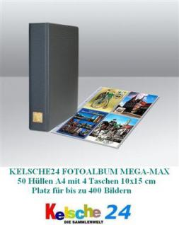 Kelsche MEGA Postkartenalbum Sammelalbum Album A4 + 25 Hüllen bis zu 200 Ansichtskarten Postkarten