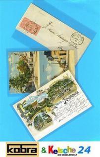 100 KOBRA T12 Postkartenhüllen Ansichtskartenhüllen Hüllen alte Postkarten Ansichtskarten Außen 149 x 97 mm Innen 147 x 95 mm - Vorschau