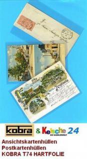 500 KOBRA T74 Postkartenhüllen Hüllen altes Format Postkarten Ansichtskarten Banknoten 95 x 145 mm