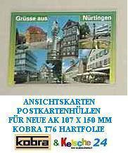 100 KOBRA T76 Postkartenhüllen Schutzhüllen Hüllen neue AK Postkarten Ansichtskarten Banknoten 107 x 150 mm - Vorschau