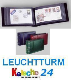 LEUCHTTURM Ansichtskarten Banknoten FDC Postkarten Album CLFDC4 extra lang Tannengrün / Grün 321219 - Vorschau