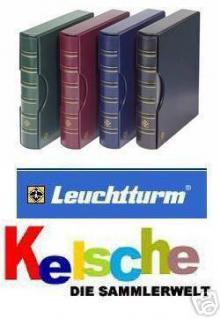 LEUCHTTURM Grande Ringbinder + Kassette in GRÜN / TANNENGRÜN - Für Briefmarken - Ansichtskarten - Münzen - Banknoten - 317159 - CLGRANDEGR - Vorschau