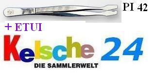 LEUCHTTURM Pinzetten 12cm + ETUI Gebogen Schaufel P - Vorschau