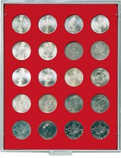 LINDNER 2102 Münzbox Münzboxen Standard für 30 Münzen 36 mm Ø 5 Reichsmark 50 ÖS 100 ÖS Schillinge