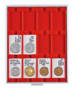 LINDNER 2170E Velourseinlagen Hellrot für Münzbox Münzboxen Kassetten Münzkoffer - Vorschau 1