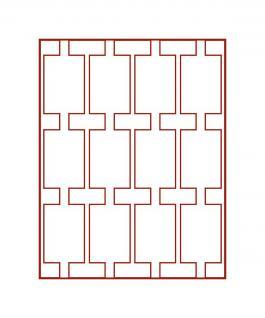 LINDNER 2170E Velourseinlagen Hellrot für Münzbox Münzboxen Kassetten Münzkoffer - Vorschau 2