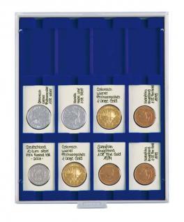 LINDNER 2170ME Velourseinlagen Marine Blau für Münzbox Münzboxen Kassetten Münzkoffer