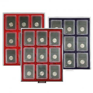 LINDNER 2219ME Velourseinlagen Marine Blau für Münzbox Münzboxen Kassetten Münzkoffer - Vorschau 2