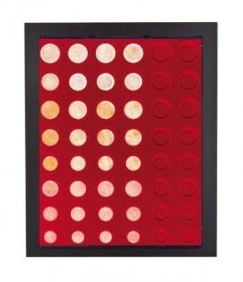 LINDNER 2486B-2906 Chassis Rahmen Münzenboxrahmen Münzvitrine MATTSCHWARZ + Münzbox Rauchglas 6x komplette Euro KMS Kursmünzensätze 1, 2, 5, 10, 20, 50 Cent -1, 2 Euromünzen