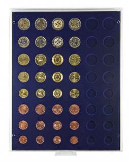 Lindner 2506M Münzbox Marine Blau für 6 komplette Euro Kursmünzensätze KMS 1 Cent - 2 Euromünzen