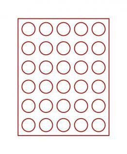 LINDNER 2701 Münzbox Münzboxen Rauchglas für 30 Münzen 36 mm Ø 5 Reichsmark 50 ÖS 100 ÖS Schillinge