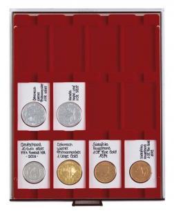 LINDNER 2770 Münzboxen Münzbox Rauchglas für 50 x 70 mm Münzen & REBECK COIN L Münzrähmchen