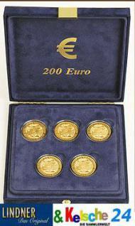 LINDNER Münzetui 5 x 200-Euro in CAPS Goldmünzen 20