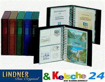 LINDNER 1103K - B - Blau Postkartenalbum + 20 Klarsichthüllen 811 - 2er Teilung Für Postkarten - Vorschau 4