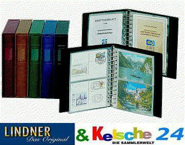 LINDNER 1130 - B - Blau ETB - Album Ringbinder Classic mit Kassette + 20 Klarsichthüllen 819 für ETB - Vorschau 2