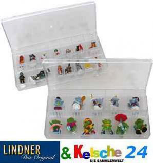 LINDNER 4820 Stapelbare Sammelvitrine glasklar und Präsentationsbox 12 Fächer für Mineralien & Fossilien & Steine - Vorschau