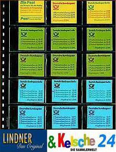 LINDNER Klarsichthülle für 15 Heftchen 78x50 mm Nr.