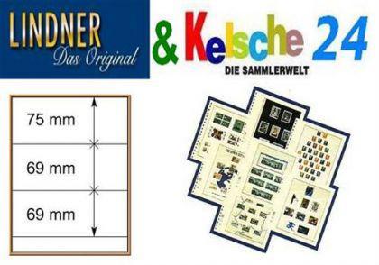 LINDNER T-Blanko-Blätter m. 3 Streifen 10er Pack 80 - Vorschau