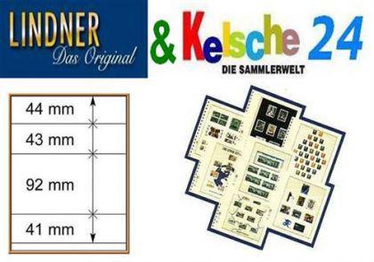 LINDNER T-Blanko-Blätter m. 4 Streifen 10er Pack 80 - Vorschau