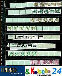 1 x LINDNER 828 Klarsichthüllen 8 waagerechte Streifen 30x242 mm Für Rollenmarken - Vorschau 1