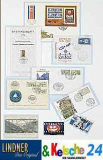 1000 LINDNER 876P Schutzhüllen Klarsichthüllen Für K7ES Einlegefolie Euromünzen KMS 64x169 mm - Vorschau 2