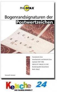 PHILOTAX Bogenrandsignaturen Postwertzeichen Handbu