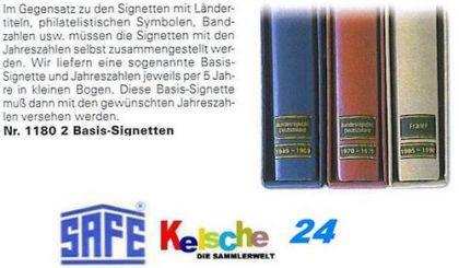 2 X Safe 1180 Basis Signetten Set Für Jahreszahlen - Vorschau