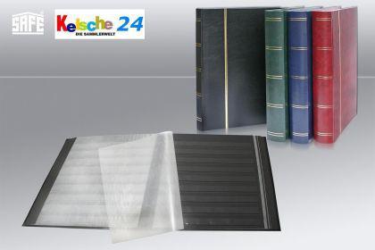 SAFE 158-5 Briefmarken Einsteckbücher Einsteckbuch Einsteckalbum Einsteckalben Album Schwarz 16 schwarze Seiten - Vorschau 2