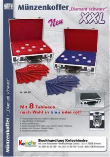 SAFE 269-9 ALU Münzkoffer XXL mit 8 Tableaus in rot & blau 25 Varianten - FREIE AUSWAHL