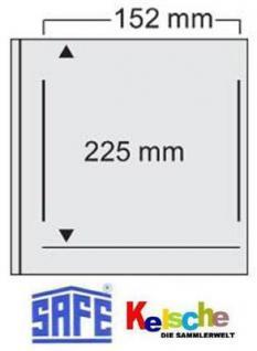 10 x SAFE 526 Ergänzungsblätter Hüllen ETB Ersttagsblätter Für die Alben 520 & 525 - Vorschau