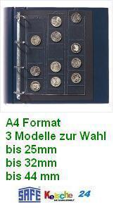 SAFE Münzhüllen 25-44 mm 3 Modelle A4 Format 3 St - Vorschau
