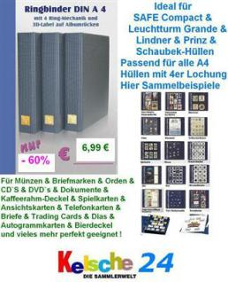 Lookitup 14880 A4 Blauer Ringbinder Album EXTRA BIG + 4 Ring-Mechanik Für Bis zu 80 DIN A4 Hüllen mit 4er Lochung - Vorschau