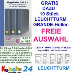 LEUCHTTURM Grande Hüllen 10 St + Kelsche Ringbinder - Vorschau