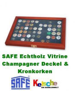 SAFE 5865 Holz Sammelvitrinen Vitrinen für 60 Kronkorken Champagnerdeckel Champagerkapseln & Kronkorken - Vorschau