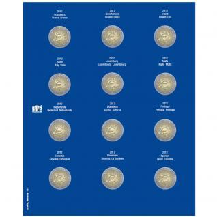 1 x SAFE 7302-12 TOPset Münzblätter Ergänzungsblätter Münzhüllen mit farbigem Vordruckblatt für 2 Euromünzen Gedenkmünzen in Münzkapseln 26 - 2012 - 2013