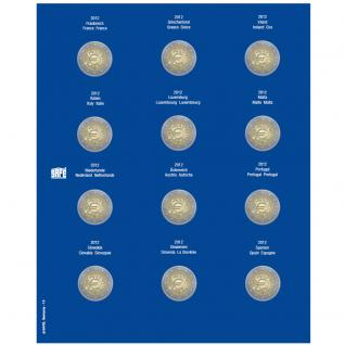 1 x SAFE 7302-13 TOPset Münzblätter Ergänzungsblätter Münzhüllen mit farbigem Vordruckblatt für 2 Euromünzen Gedenkmünzen in Münzkapseln 26 - 2013