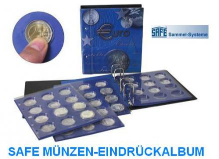 SAFE 7310 TOPset Münzalbum Ringbinder 10 EUROMÜNZEN mit 6 Blättern 7848 + farbigen Vordruckblättern 2002 - 2015