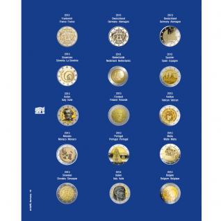 1 x SAFE 7822-10 TOPset Münzblätter Ergänzungsblätter Münzhüllen Münzblatt mit farbigem Vordruckblatt für 2 Euromünzen Gedenkmünzen 2013