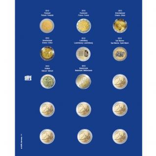 1 x SAFE 7822-11 TOPset Münzblätter Ergänzungsblätter Münzhüllen Münzblatt mit farbigem Vordruckblatt für 2 Euromünzen Gedenkmünzen 2013 - 2014
